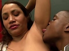 Fabulous pornstar in unbelievable bi-racial, creampie xxx scene