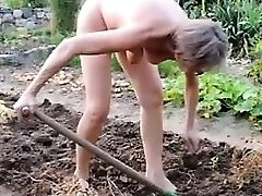 doll mature garden outdoor anal fisting fake penis 21