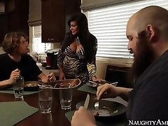 Mom Sheila Marie In Tights Wakes Up Sonny With Blowjob