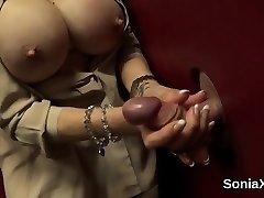 Adulterous british milf gal sonia unsheathes her large boobs01