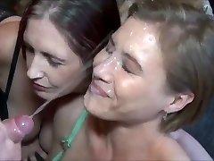 Amazing Endless Cumshot on Molten Cougar Face