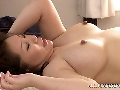 Red-hot mature Chinese babe Wako Anto likes position 69