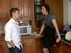 Nasty mommy to mates and fuck step-son