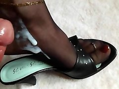 Soles in Nylons drenched in Cum and Piss