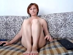Russian momma great tits and uber-cute puss