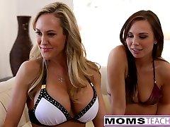 Hot Mom Brandi Love, Stepdaughter Aidra Fox & Boyfriend Fuck