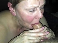 Useless beth H gargles her Master's sausage and swallows