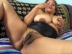 Exotic pornographic star in naughty mature, latina porn video