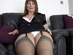 Mature busty secretary talks filthy