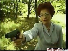 Mature Redhead Mega-bitch Fucking Outdoors