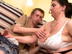 Gorgeous mother fucked hard by youthfull boy and squirts