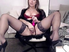 sirena99 in dark-hued stockings