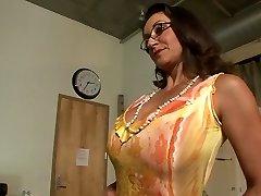 Best porn industry stars Persia Monir and Bonnie Skye in hottest brunette, masturbation xxx scene