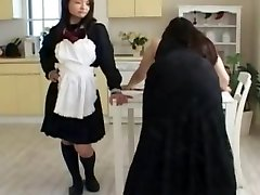 Asian Mom Spanked by Dominant Schoolgirl