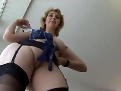 Mature British in stockings upskirt taunt 1 (XED)