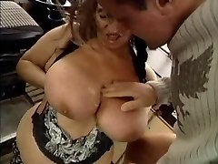 Ugly GRANNY WITH HUGE BOOBS Pulverized  BY THE MECHANIC 1