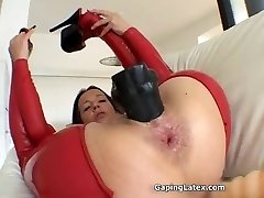 Dirty mature whore goes crazy faux-cock
