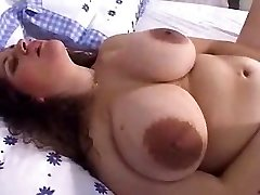 Mature enormous tits with large nipples and dildo! Amateur!