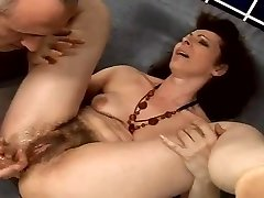 unshaved granny anal squirter