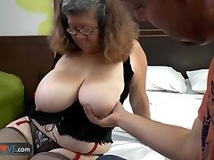 AGEDLOVE - Brazilian grandmother Brenda seducing water supplier