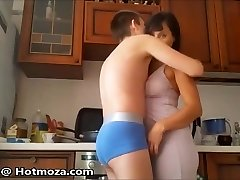 Guy feels up his mom
