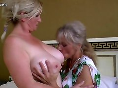 Lezzie gang sex with grannies and young girls