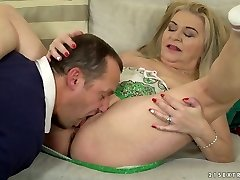 Chunky light-haired haired dirty harlot Betsy B is so into working on rock hard pecker