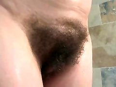 english mature bathes her gigantic tits & hairy twat