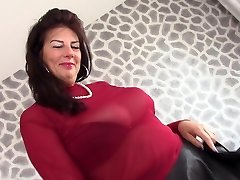 Red sheer top heaven