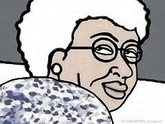 Ebony Granny loving anal! Animation cartoon!