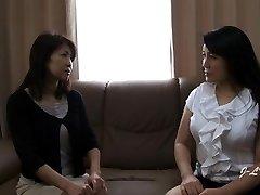 JAV Girl-on-girl Kissing--Yukari/Misako Sofa