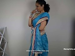 South Indian Mom Lets sonnie Jerk Off Then Pummel Her (Tamil)