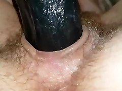 MasturbationBlack dildo for cunt