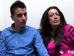Gross mature wants monster cock up her butt