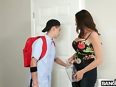 Insatiable stepson pulverizes mega busty Colombian step mommy Ariella Ferrera