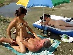Russian swingers make enjoy by the river.