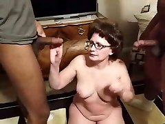 Granny Plays with two Bbc in the Morning