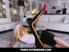 Workout Step Mom Fucked by Stepson