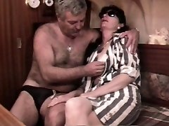 Vintage French fuck-fest video with a mature hairy couple