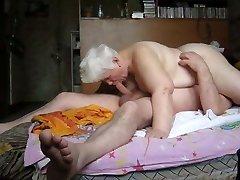 How it is done in Russia. Grannie Lida and Grandpa Vitya