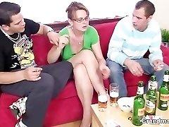 Two guys enjoy fucking hot mummy