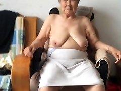 Asian 80+ Grannie After bathtub