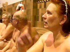 Nudists Swimming in Danish TV-Display