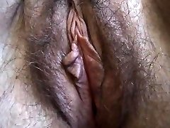 Fur Covered BBW close up masturbation