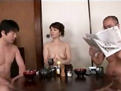 Japanese Mom blackmailed by Step Son-in-law 2