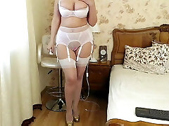 Mature mummy in lingerie 1