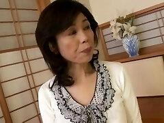 Breasty Japanese granny fucked inexperienced