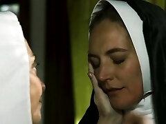 Beautiful nun tongued