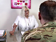 AgedLovE Lacey Starr Porking Hard with Soldier