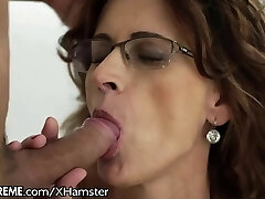 Glasses GILF Loves Taking Young Guys Cock